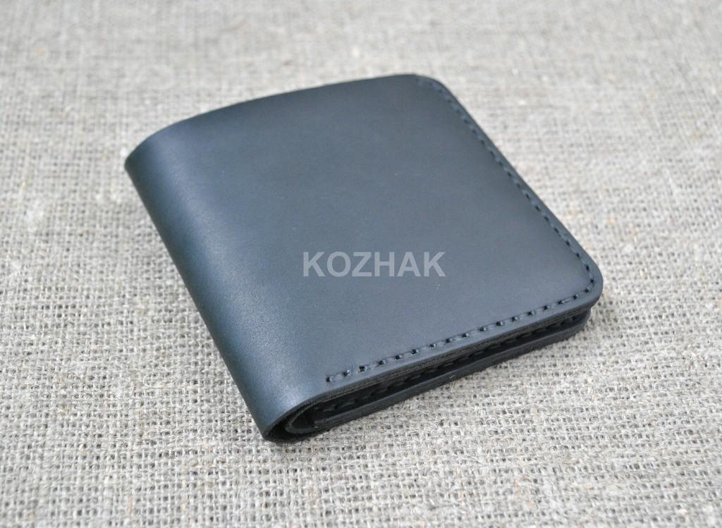 Компактный оригинальный кошелек из натуральной кожи
