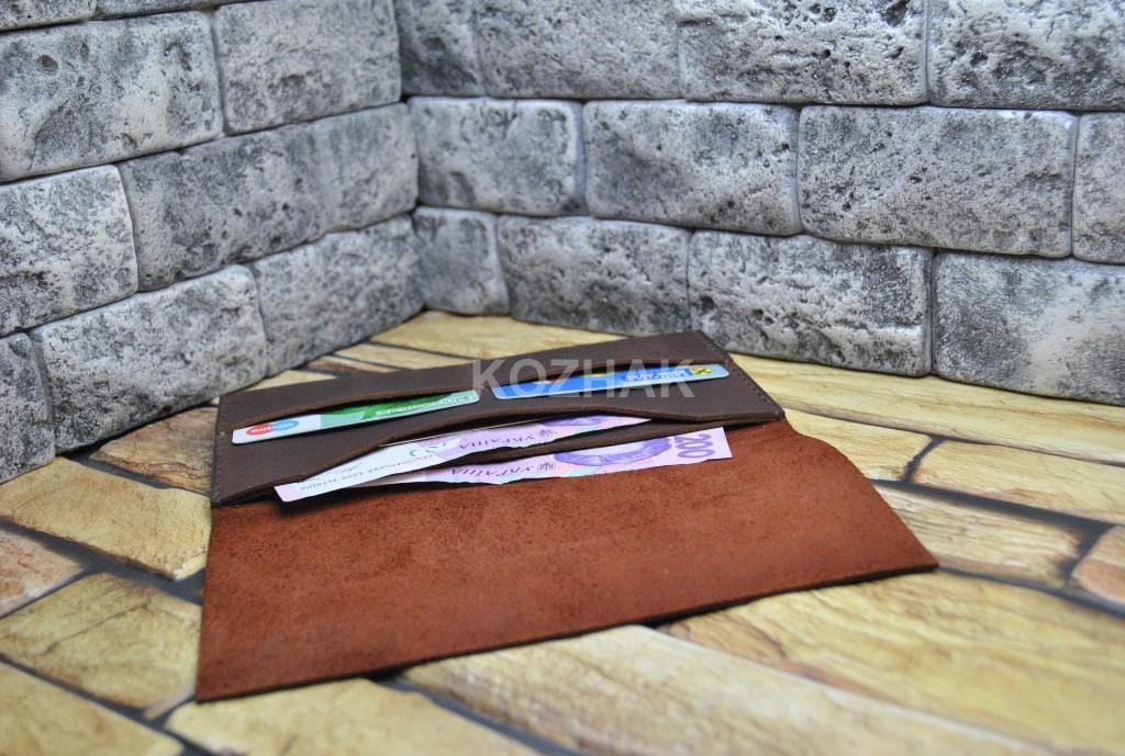 Портмоне для денег, карт и паспорта из натуральной кожи
