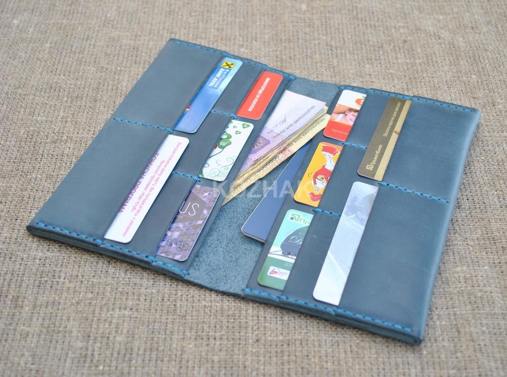 Кожаное портмоне для денег и документов