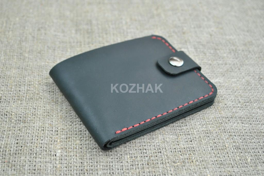 Карманный бумажник из натуральной кожи