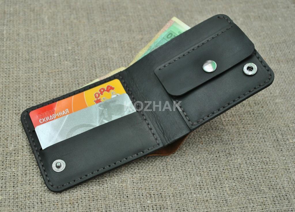 Компактный кошелечек из натуральной кожи