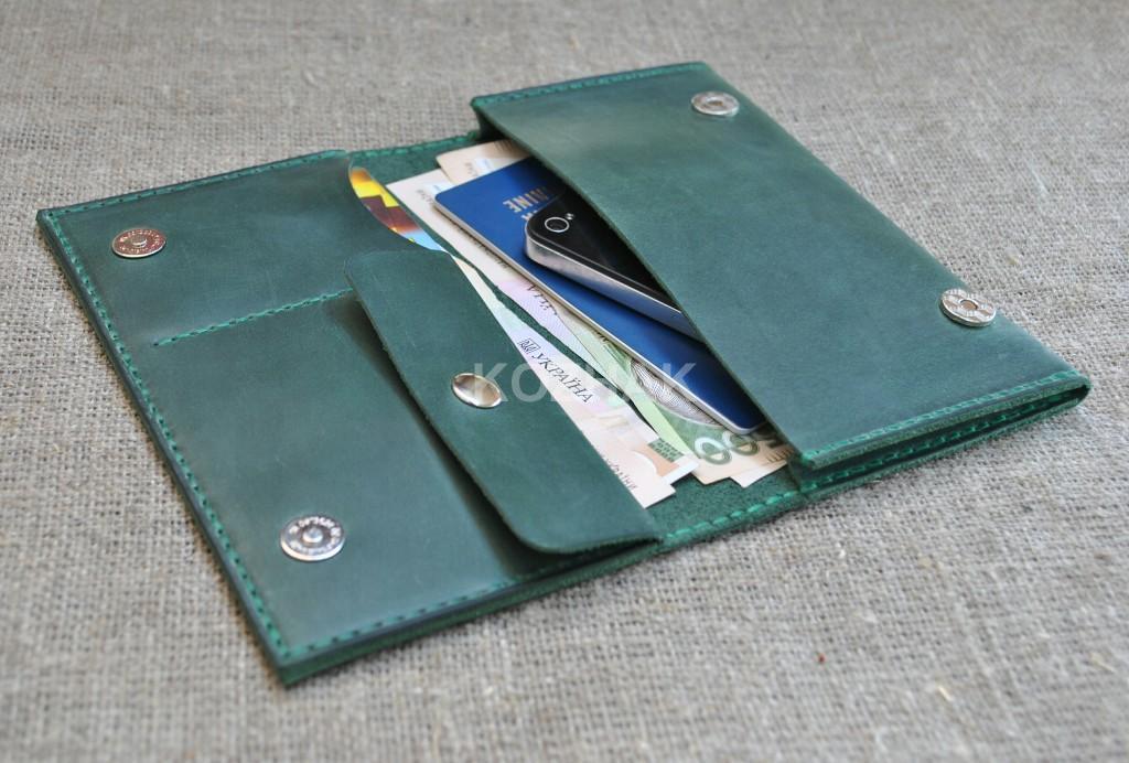 Портмоне-чехол для денег, паспорта и смартфона
