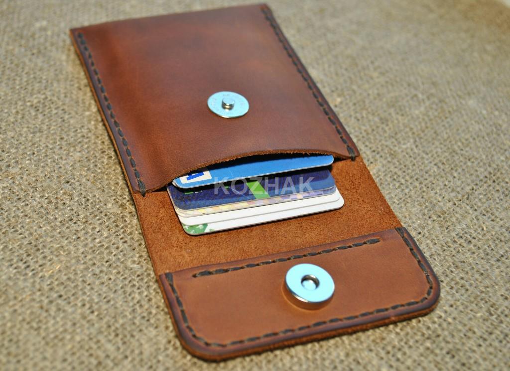 Футляр для карт и визиток из натуральной кожи