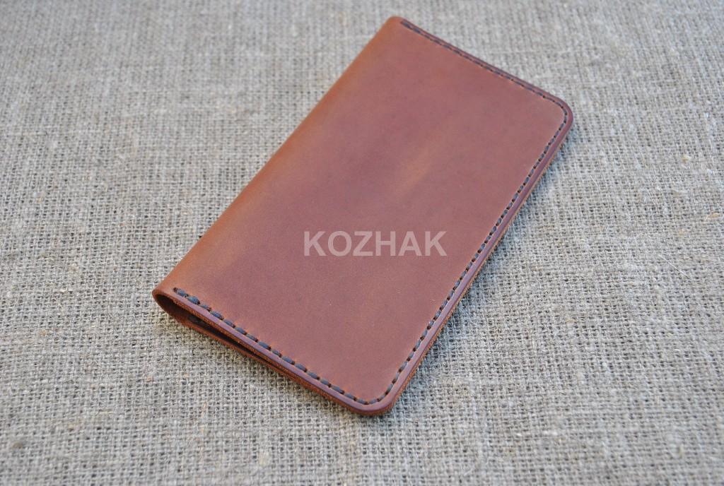 Чехол-книжка для телефона из натуральной кожи