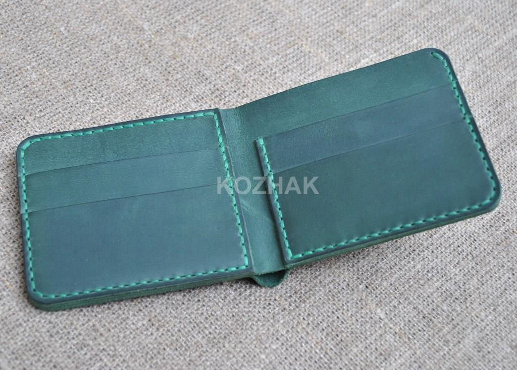 Удобный небольшой кошелек из кожи ручной работы