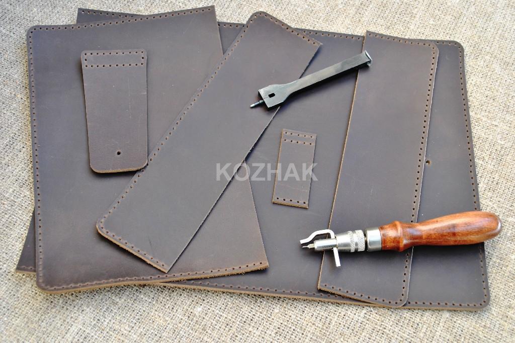 Кожаная обложка шоколадного цвета для блокнота