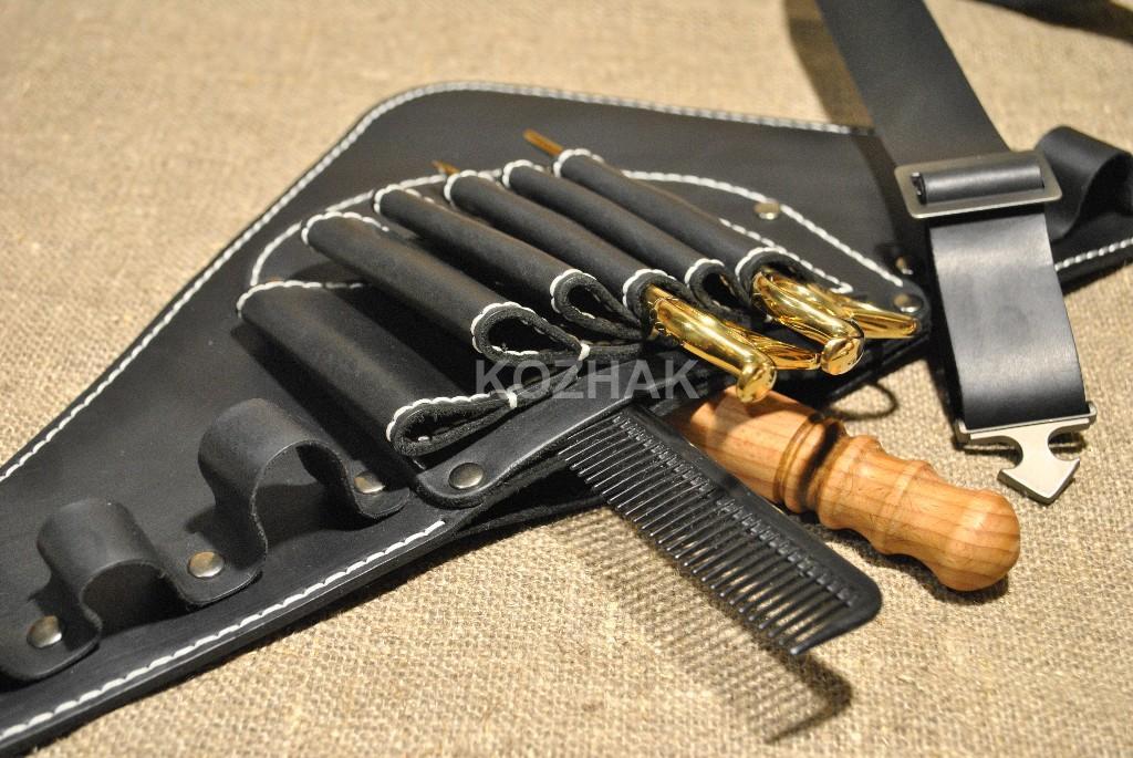 Кобура для парикмахера из натуральной кожи ручной работы