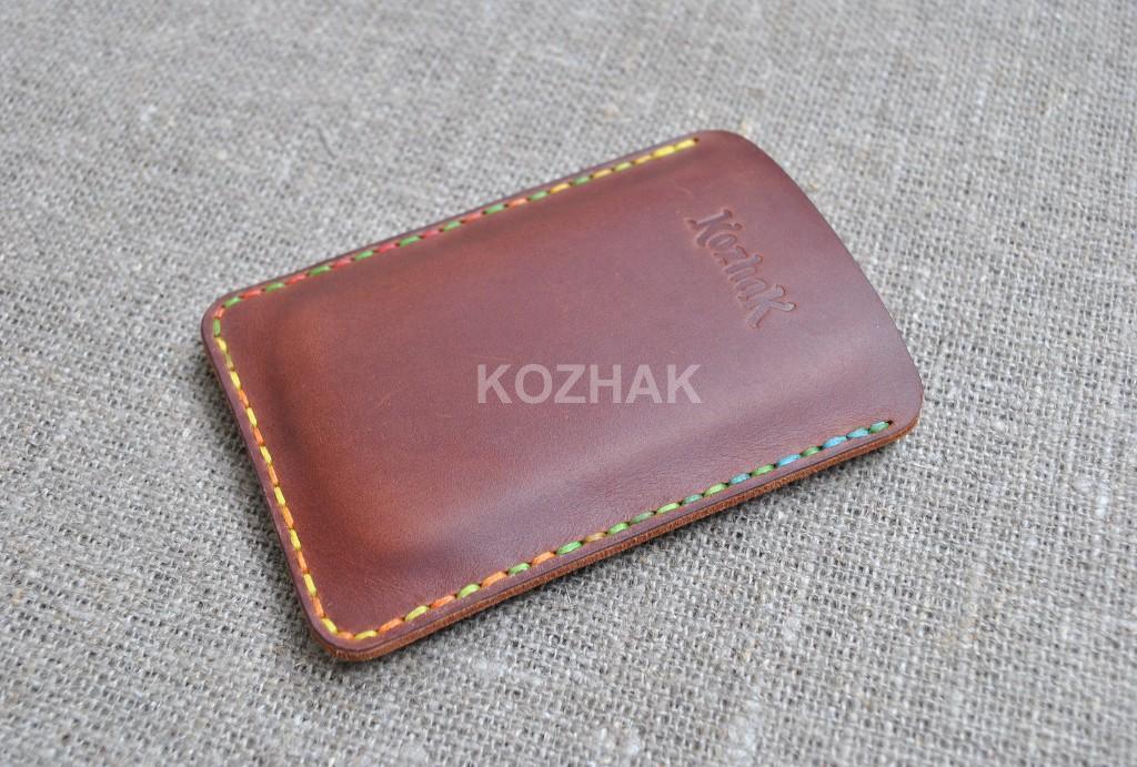 Кожаный чехол-карман для смартфона