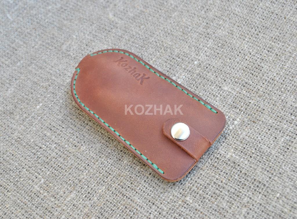 Чехол для ключей из натуральной кожи ручной работы