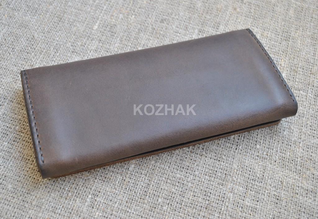 Вместительный винтажный кошелек ручной работы