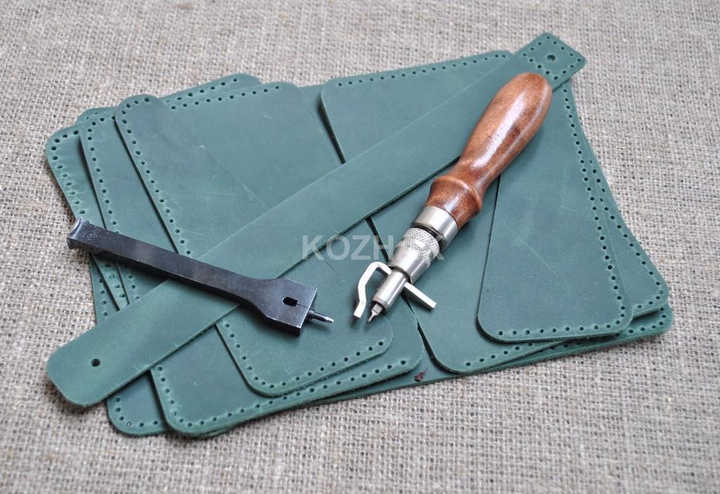 Холдер для документов из натуральной кожи зеленого цвета