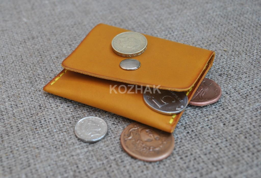 Кошелек для монет из натуральной кожи