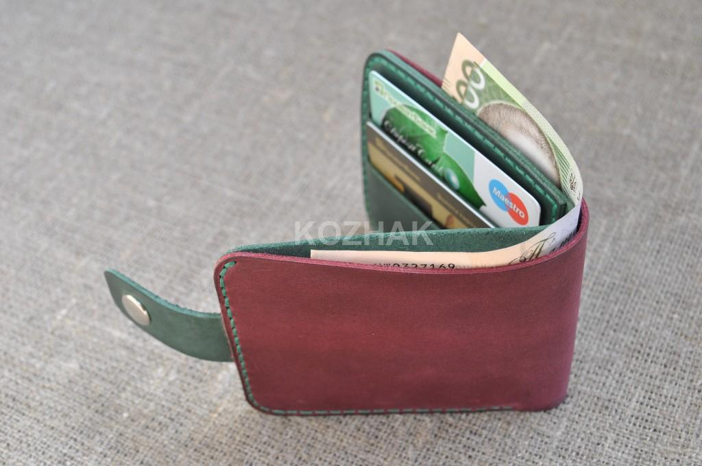Классический маленький кошелек ручной работы