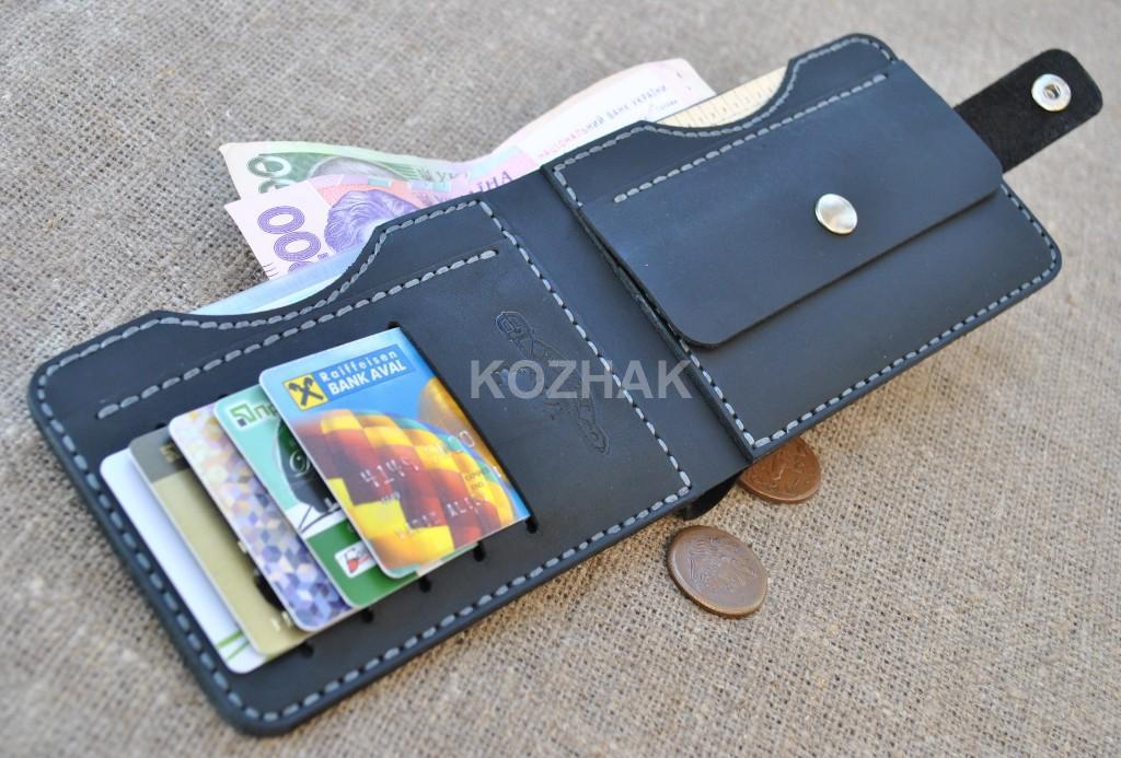 Интересный кошелек для документов и денег ручной работы