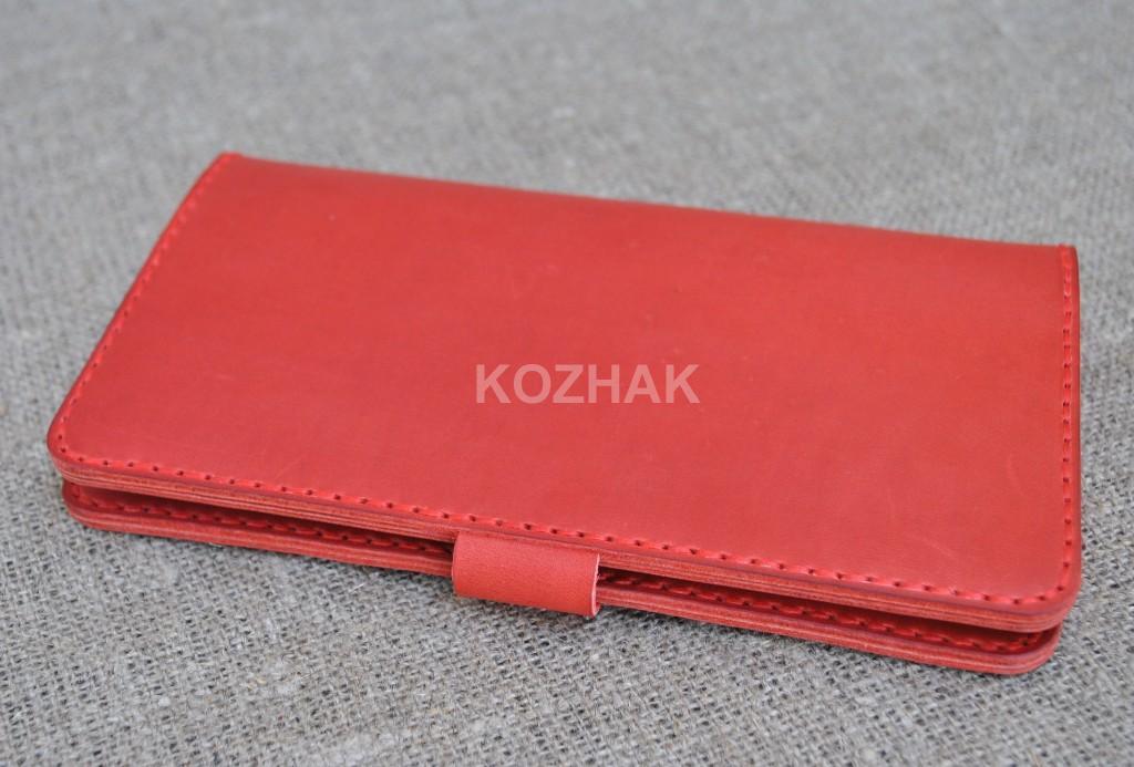 Большой красный кошелек ручной работы