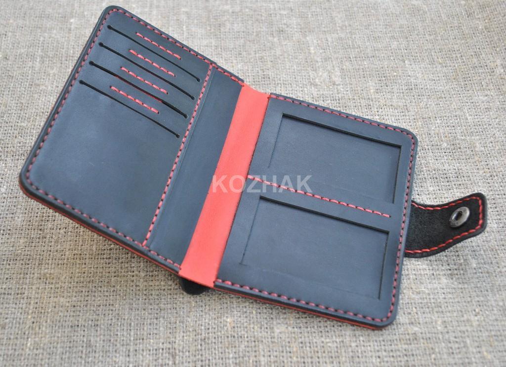 Холдер-портмоне для водителя из натуральной кожи