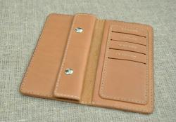 Компактный портмоне двойного сложения из натуральной кожи