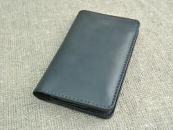 Оригинальный черный портмоне из натуральной кожи