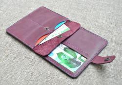 Компактный чехол для документов, карт и денег из натуральной кожи