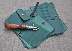 Качественное кожаное портмоне ручной работы