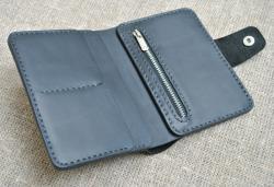Вертикальный стильный портмоне из натуральной кожи K46-0