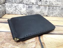 Зажим для денег с наружным отделом для монет из кожи
