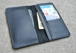 Чехол для гаджета, денег и карт из натуральной кожи