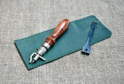 Маленький кошелек для мелочи из натуральной кожи