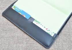 Чехол для блокнота из натуральной кожи с отделами для карт