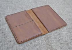 Чехол для паспорта, карт и денег из натуральной кожи