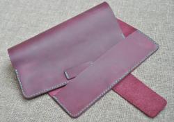 Обложка для блокнота в цвете марсала из натуральной кожи