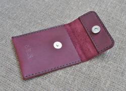 Карман из кожи для карт и визиток ручной работы