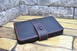 Красивый кошелек вертикального сложения из натуральной кожи