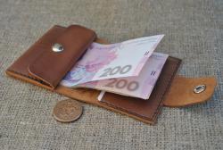 Маленький кожаный кошелек ручной работы