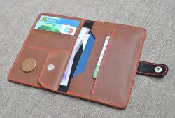 Кошелек двухцветный для денег и документов