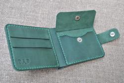 Кошелек практичный кожаный ручной работы
