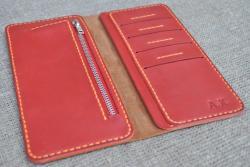 Стильный кошелек двойного сложения ручной работы