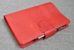 Красная обложка для блокнота формат А5