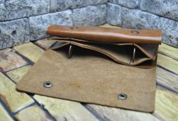 Клатч-кошелек из натуральной кожи ручной работы