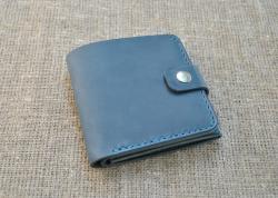 Бумажник тройного сложения из натуральной кожи