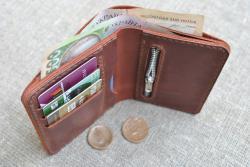 Вертикальный небольшой кошелек с отделом для мелочи