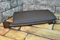 Кожаный функциональный клатч ручной работы