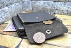 Вертикальный кошелек с отделом для монет