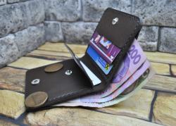 Мужской компактный кошелек из натуральной кожи