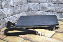 Черный кошелек-клатч ручной работы