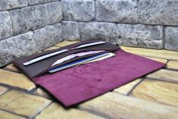Бордовый кошелек ручной работы из кожи