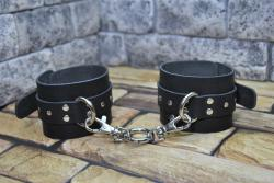Кожаные черные браслеты для рук и ног