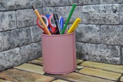 Подставка для ручек и карандашей из натуральной кожи