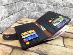 Кожаный кошелек для денег и документов