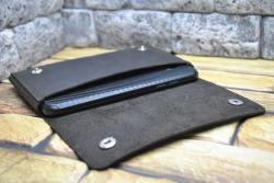 Объемный чехол для смартфона из натуральной кожи